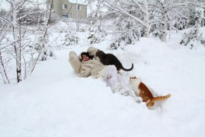 Зима в Липовке.